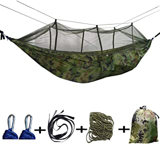 JAY D.L Hammock with Mosquito Net 2 Person Camping, Ultralight Portable Windproof, Anti-Mosquito, Swing Sleeping Hammock Bed with Net for Outdoor, Hiking, Backpacking, Travel