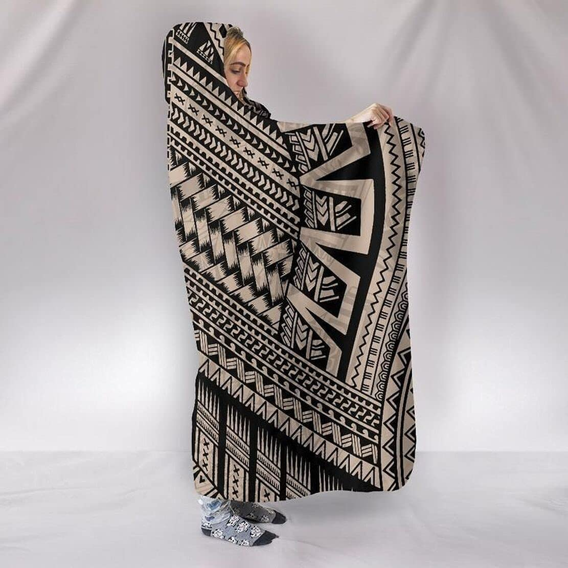 Personalized 3D Many popular brands All Over Polynesian Printed Hooded Blanket New color Th