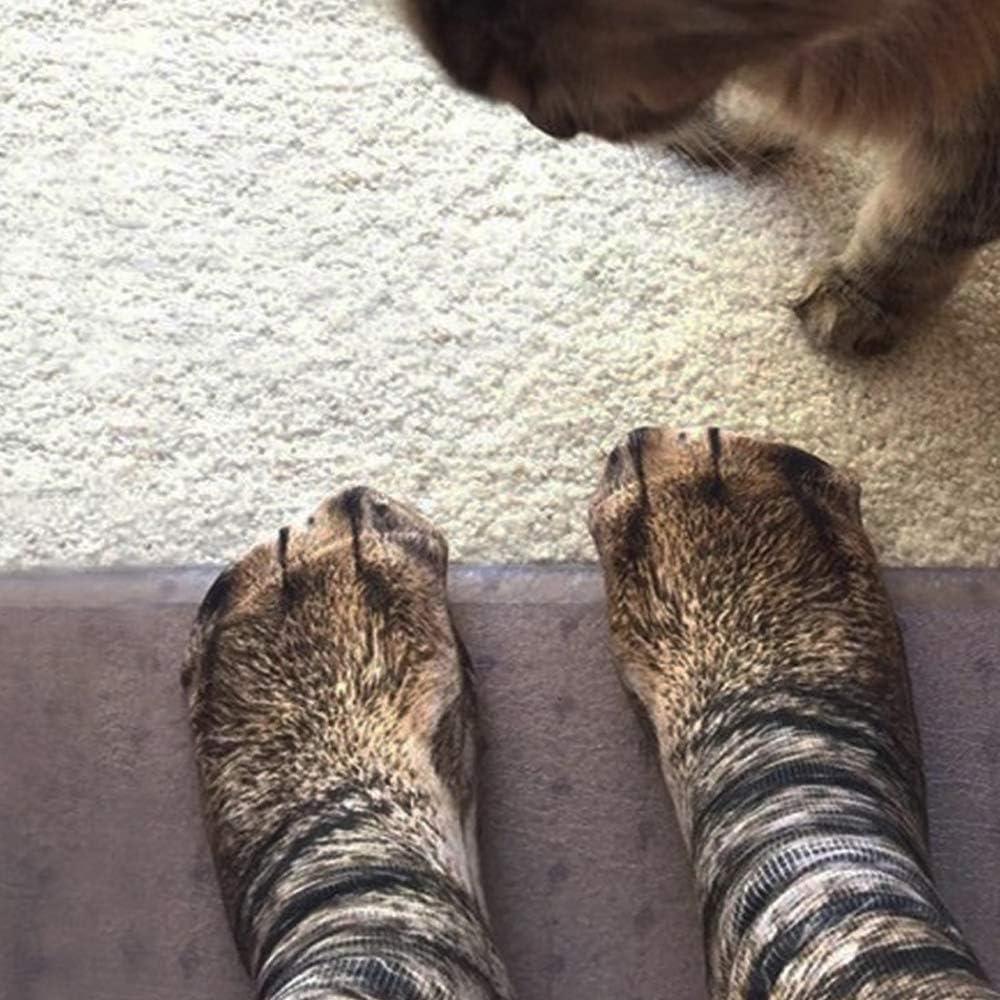 3D Animal Print Socks Unisex Adult Kids Novelty Animal Paw Crew Socks 4//5 Pairs