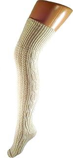 Mujer Hombre Sobre La Rodilla Calcetines Traje Regional 100% Lana
