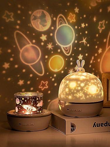AOCHEN Fancy 8 Films Moonlgiht Bunny Night Light Kids Projector Lamp for Children Lighting Baby Nursary Birthday Part...