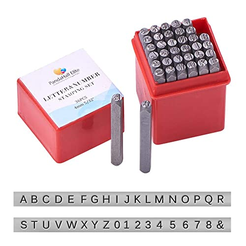SODIAL Stamps Numbers R Stamps Numbers Set Punch Steel Metal Tool Case Craft Hot 4mm