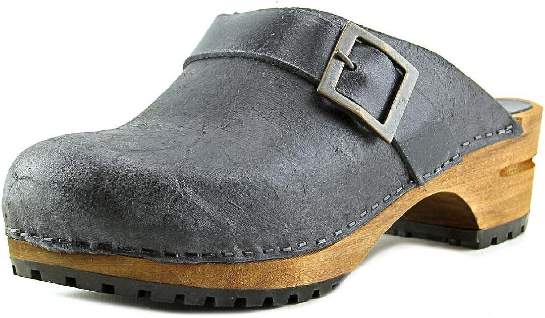 Sanita kvinnor Kimmie Open läder läder läder Close Toe Clogs  enkel och generös design