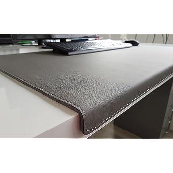 Gewinkelte Schreibtischunterlage Mit Kantenschutz Sanft Lux Leder 90 X 47 Grau Amazon De Burobedarf Schreibwaren