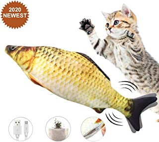 Electric Moving Fish Cat Toy, Realistic Electric Doll...