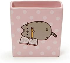 """Pusheen by Our Name is Mud """"Pusheen Pencil Holder"""" Stoneware Container, 4 Inches"""