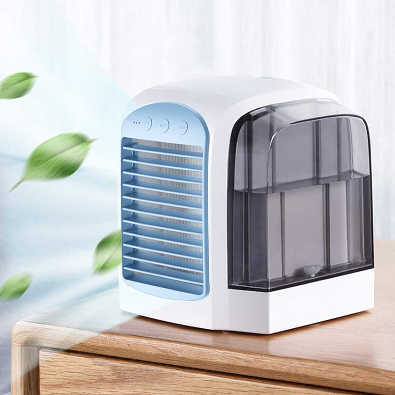K-Flame Adjustable Air Cooler Air Conditioner Mini Air Cooler with Cooling Fan USB Purifier for Home Office Bedroom Travel