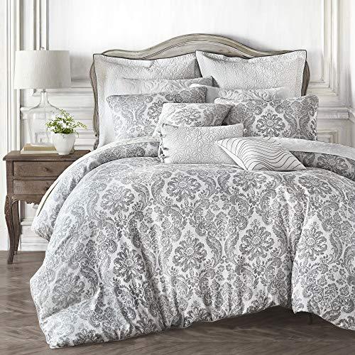 Croscill Saffira Queen Comforter 92 x 96, White
