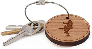 Tamil Keychain, Wood Twist Cable Keychain - Large