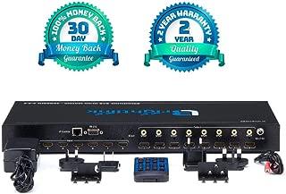Brightlink Matrix Switcher Audio Video Distribution Systems (Brightlink 8x8 HDMI AV Matrix HDMI 2.0 - Support 4K@60Hz Resolutions YUV4:4:4Support HDR10 HDCP2.2 18Gbps SPDIF Audio Out - Web Control