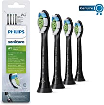 Philips Sonicare DiamondClean Optimal White Replacement Brush Heads, 4 Pack, Black