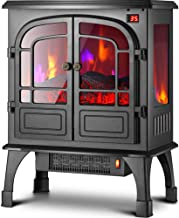 Chimenea Eléctrica con Fuego Eléctrico Power Flame 1800W,Chimenea Virtual, Simulación Llamas, Calefactor Aire Caliente, Termostato, Silenciosa, Negro,Mechanical