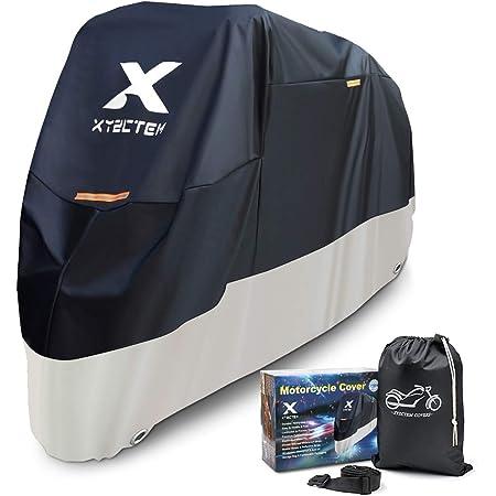 Xyzctem Motorrad Abdeckplane Wasserdicht Motorradabdeckung Oxford Stoff All Season Outdoor Schutz Größe 295 L X 140 H X 110 B Cm Auto