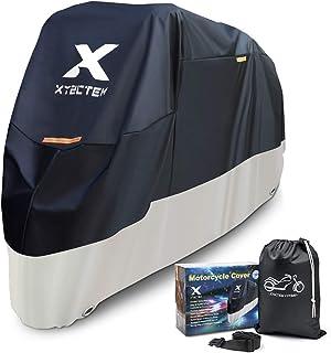XYZCTEM Funda para Motos, Cubierta de Motocicleta de Tela Oxford Impermeable Resistente para Protección al Aire Libre de Todas Las Estaciones (245 x 105 x 125 cm)