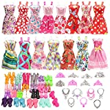 Festfun 32 Vêtement & Accessoires de Poupée 10 Robes Chics + 22...