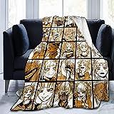 My Hero Academia Collage Anime Himiko Toga Mantas para sofá, suave y cálida franela para viajes, camping, hogar, ropa de cama, sala de estar, 60 x 50 pulgadas
