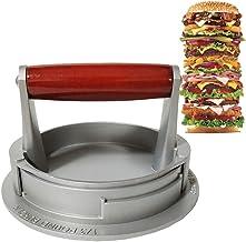 QXM Aluminium hamburgerpers, hamburgermaker, voor gevulde hamburgers, sliders en pond pastetjes, antiaanbaklaag, barbecue-...