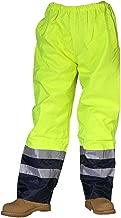 Hi Viz Vis High Rain Cover Waterproof Plain Pant Mens Boys Safety Trouser