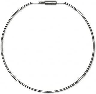 Key Ring, 6in.dia., Threaded Type, Steel