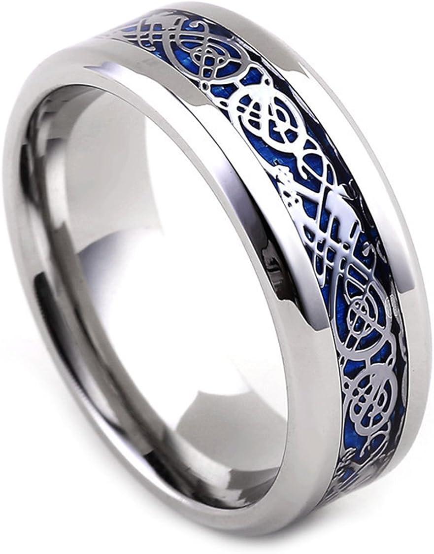 Tanyoyo 8MM Celtic Award-winning Save money store Dragon Ring Stainless for Women Titanium Men