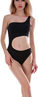 Womens One Piece Swimsuit One Shoulder Swimwear Cut Out Bathing Suit