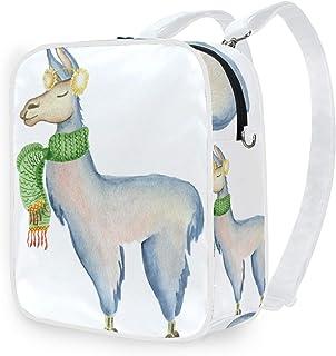 DEZIRO - Bolso bandolera con diseño de alpaca, bufanda y llama, mochila escolar