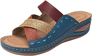 comprar comparacion YWLINK Sandalias Romanas para Mujer Zapatillas De TacóN De CuñA Hueca De Verano Zapatos De Playa CóModos Y Antideslizantes...