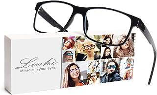 Livho Computer Reading Glasses Blue Light Blocking Glasses - Reader Eyeglasses Anti Glare Eye Strain Light Weight for Women Men LI018-1