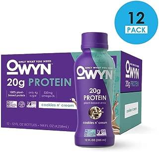 OWYN, Vegan Protein Shake, Cookies N Cream,12 Fl Oz (12 Pack)