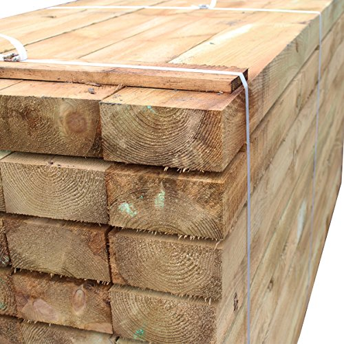 Suregreen Pallet of Treated Timber Railway Sleepers (x32) | 2.4m x 200mm x 100mm Ltd