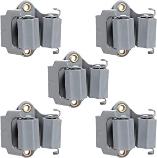 ROSENICE Mop and Broom Holder, Wall Mounted Cleaning Tools Organizer Mop Clip Bathroom Kitchen Garden Storage Rack (5PCS - Grey)