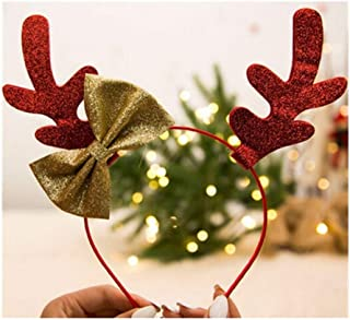 QQRS- Christmas Headband Hair Band Antler Head Buckle Hair Accessories Girls Children Dress Up Toys Cute Hair Clip Cap Gifts (Style : E)