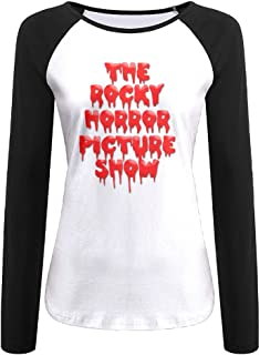 Creamfly Womens The Rocky Horror Picture Long Sleeve Raglan Baseball Tshirt
