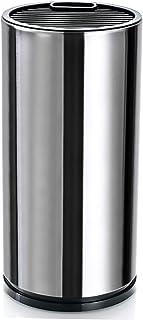 Bloc Vide pour Couteaux,Bloc à couteaux, support pour ustensiles de cuisine en acier, rangement argenté avec fentes pour c...
