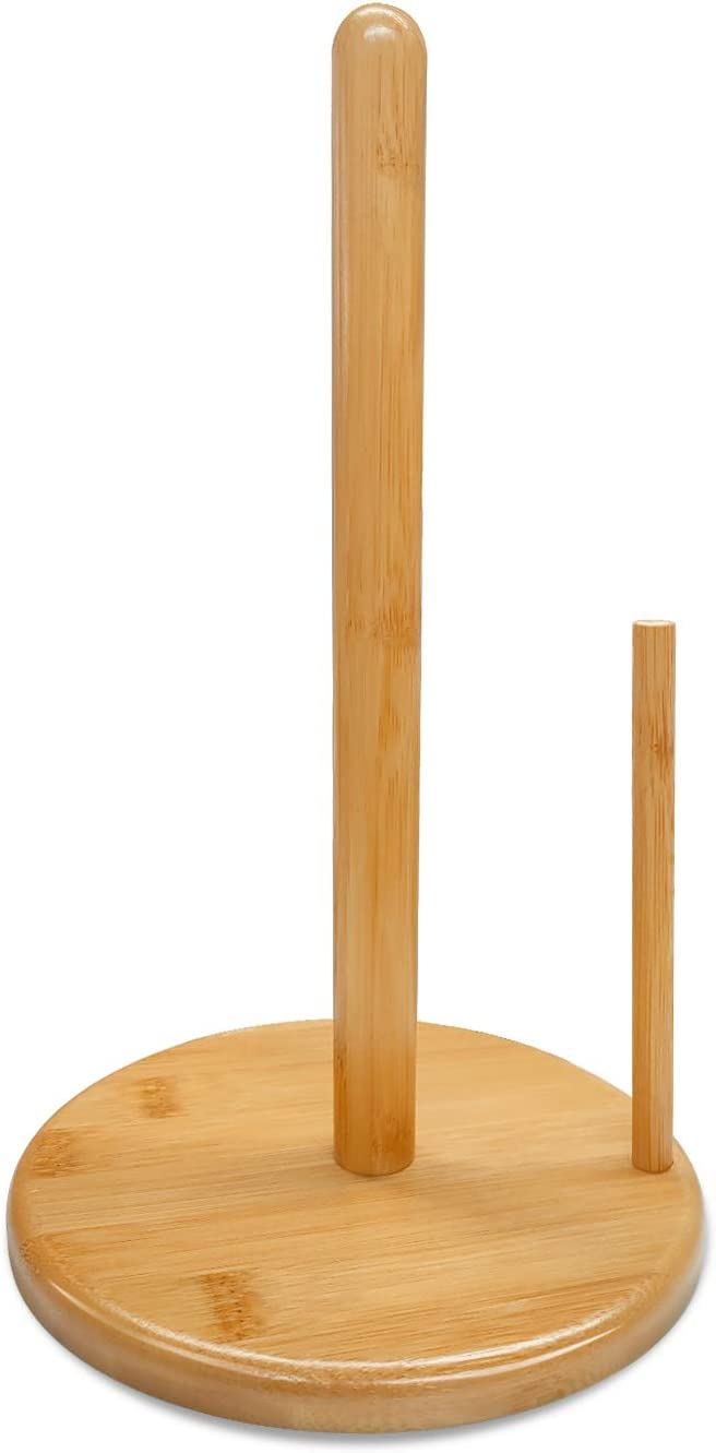Zengest Omaha Mall Bamboo Paper Towel Holder Countertop Kitchen Pape At the price of surprise Stand