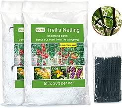 OGORI 5 x 30ft Heavy-Duty Plant Trellis Netting 2 Pack, Tangle-Free Trellis for Climbing Plants