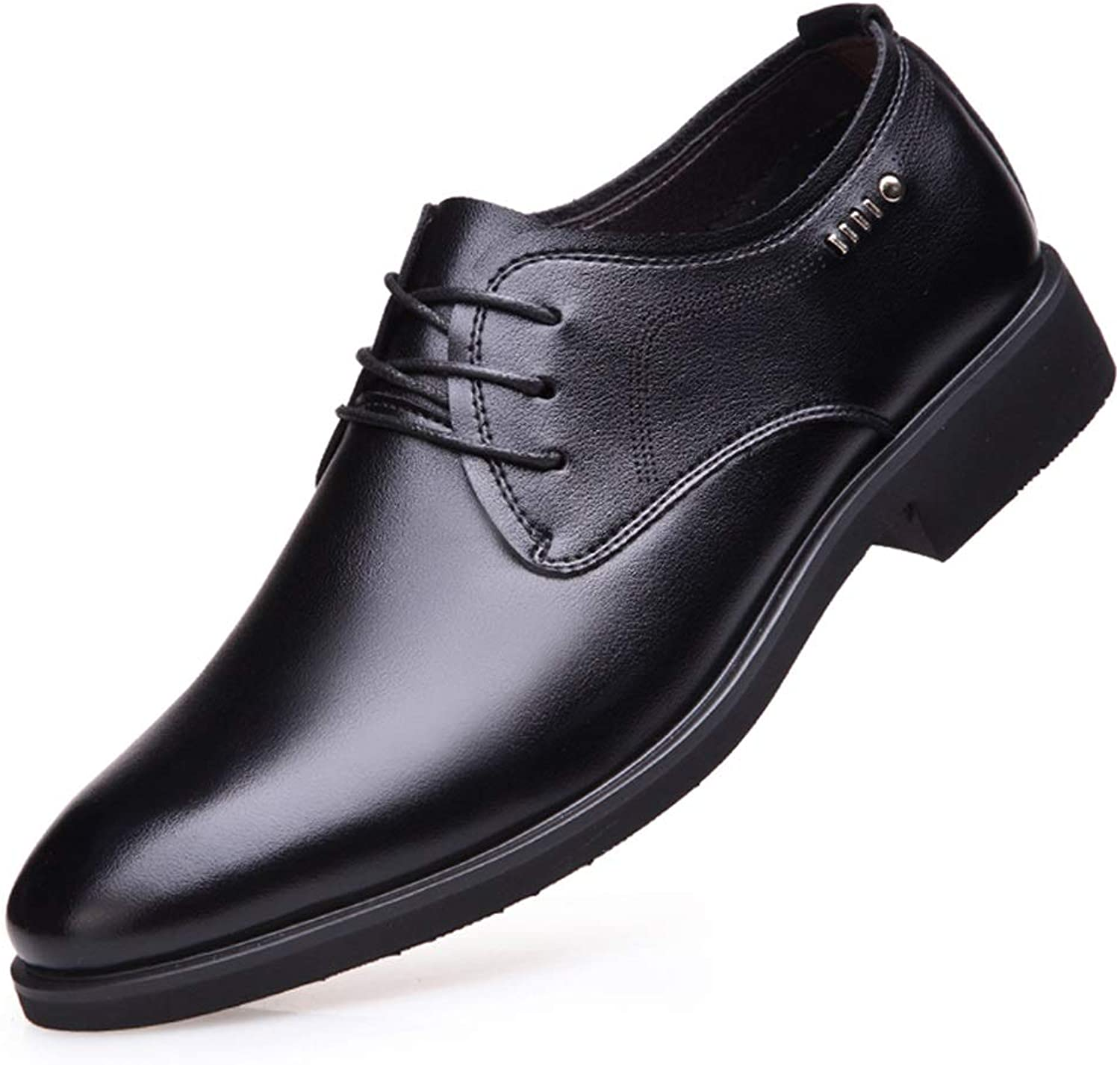Ino Durable and Fashion Oxford shoes for Men Formal shoes Lace Up Style Microfiber Leather Simple Pure color Business Style