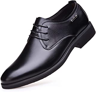 2019 Mens New Lace-up Flats Men's Oxford Shoes Formal Shoes Lace Up Style Microfiber Leather Simple Pure Color Classic Fashionable Business British Style