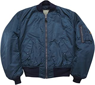 Made in USA New ALPHA Us Ground Crew Flight Jacket Army Military Blue Medium