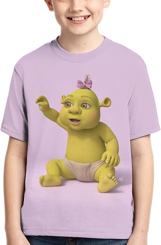 Anime Theme Shrek 3D Printed T-Shirt Boys and Girls Anime Round Neck Cool Cartoon Short-Sleeved Top T-Shirt