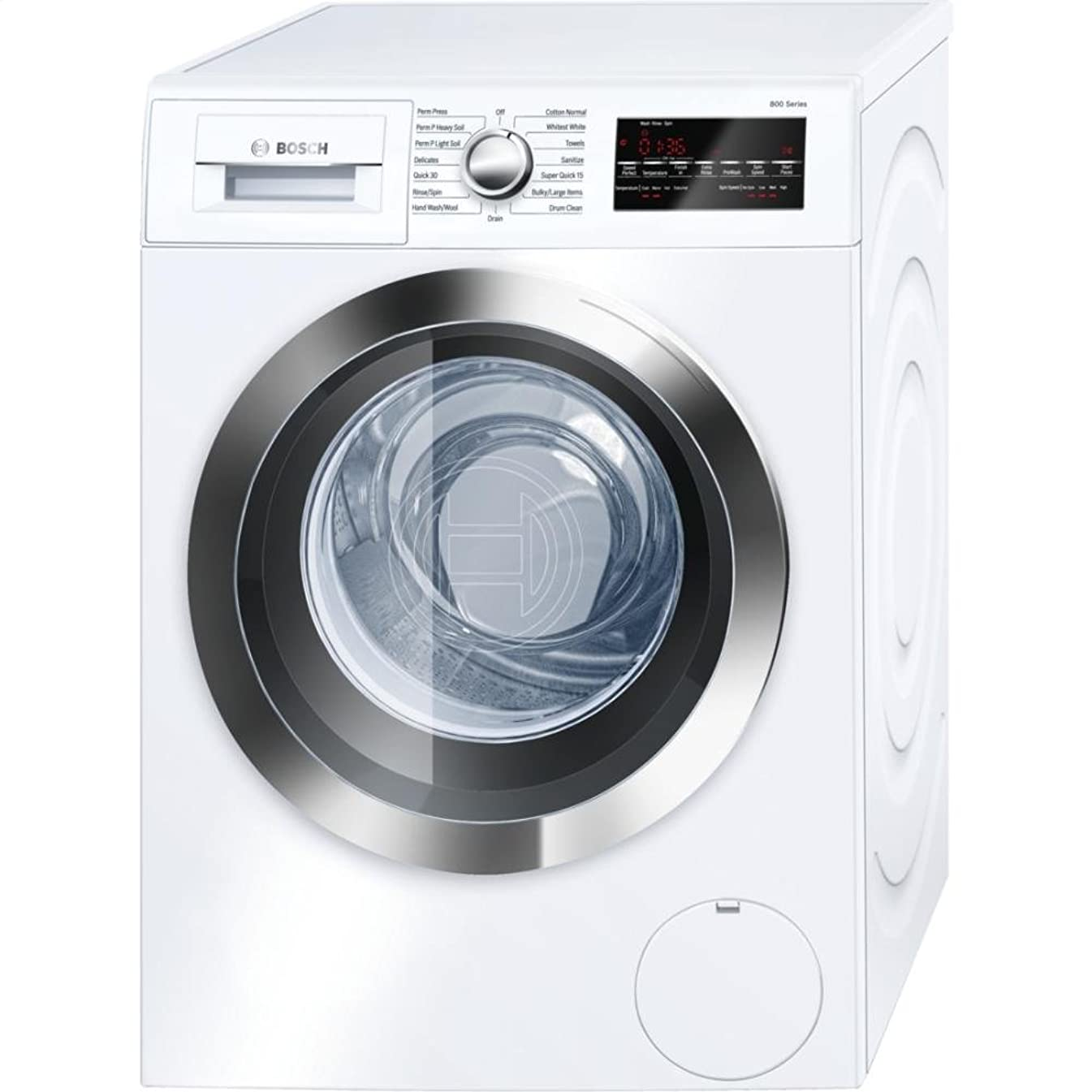 Bosch WAT28402UC 800 2.2 Cu. Ft. White Stackable Front Load Washer - Energy Star