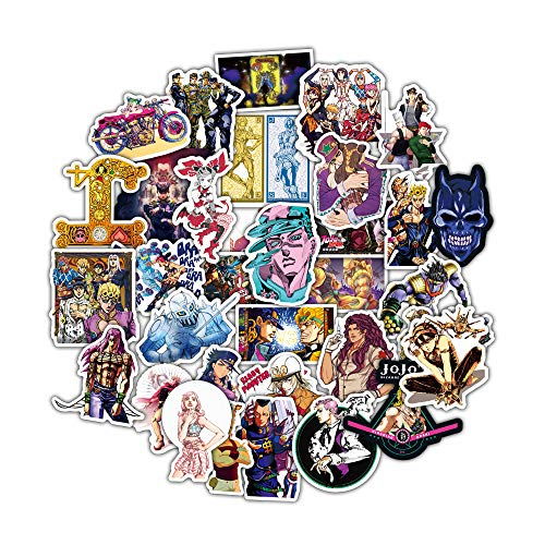 BAIMENG Jojo Wonderful Adventure Anime Pvc Waterproof Sticker Skateboard Helmet Guitar Graffiti Sticker 50 Pcs