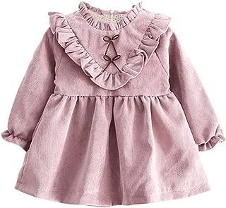 JIANLANPTT Fashion Autumn Baby Girls Velvet Dress Long Sleeve Korean Kids Dresses