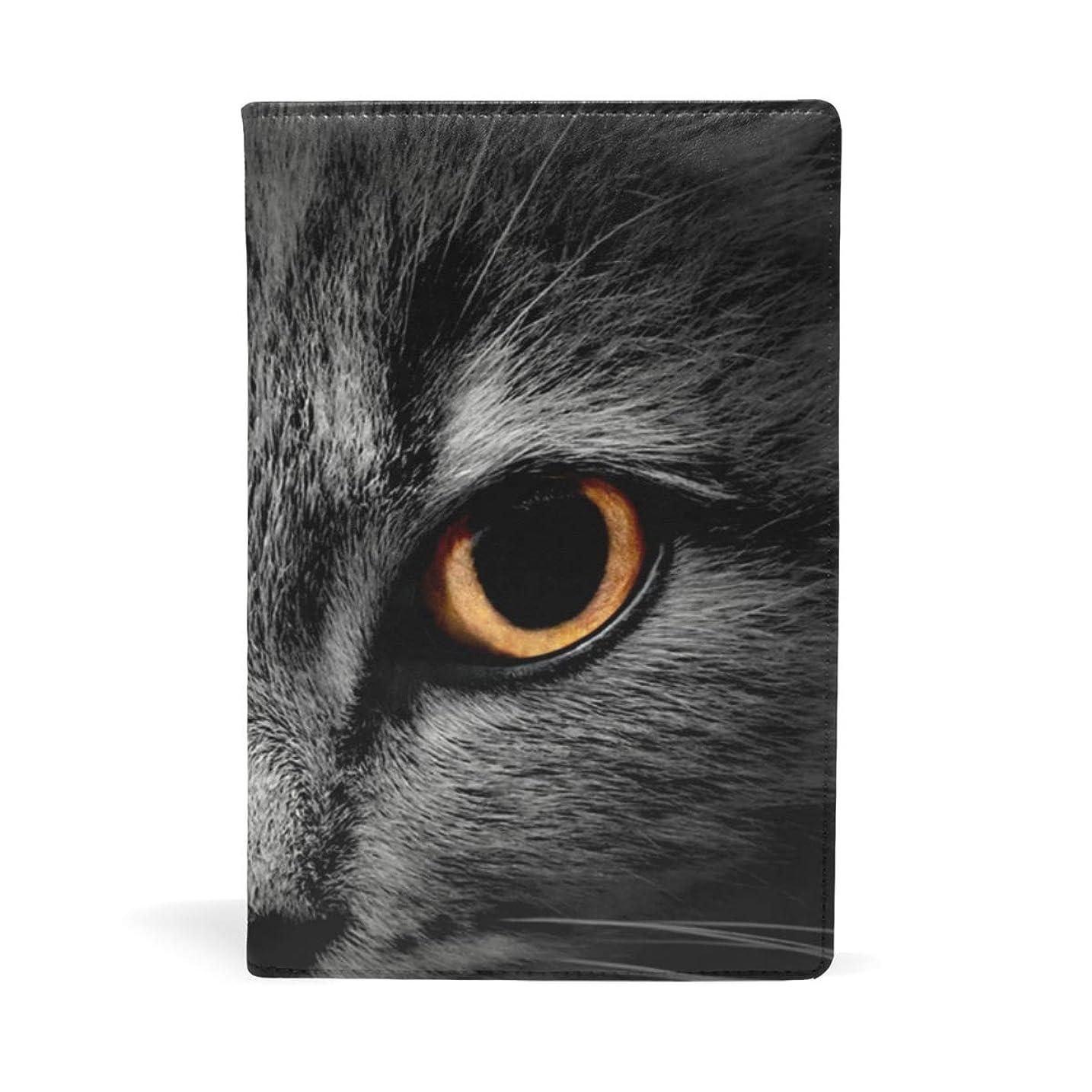 会計オフハプニングブックカバー 文庫 a5 皮革 レザー 猫の目 文庫本カバー ファイル 資料 収納入れ オフィス用品 読書 雑貨 プレゼント