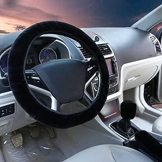 3pcs set Winter Warm furry Steering Wheel Cover&Handbrake Cover&Gear Shift Cover Set Faux Wool Uinversal Plush Non-Slip Car Interior Accessories-14.96