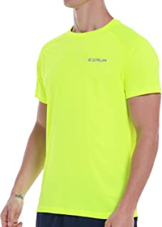 EZRUN Men's Dry Fit Mesh Athletic T Shirts Quick Dry Lightweight Workout Running Gym Shirts for Men