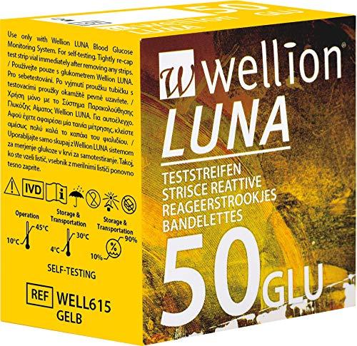 Wellion LUNA Blutzucker-Teststreifen, 50 Stück