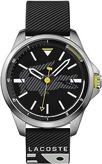 Lacoste Men's Black Dial Plastic Band Watch - 2010941