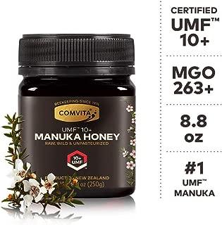 Comvita Certified UMF 10+ (MGO 263+) Raw Manuka Honey I New Zealand's #1 Manuka Brand I Authentic, Wild, Unpasteurized, Non-GMO Superfood I Premium Grade I 8.8 oz