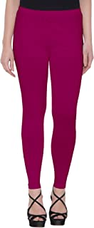 American-Elm Women's Hot Pink Ankle Length Cotton Legging